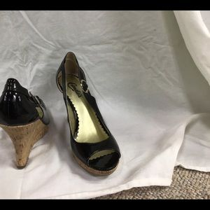 Wedge heel pumps